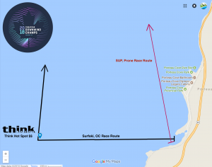 Start area of the Canadian Downwind Champs